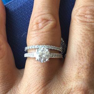 Swarovski Jewelry - Swarovski White Rhodium Plating Set Ring Size 6 3a8b0f6e9aac